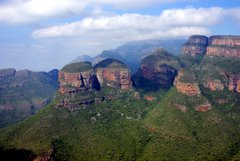 Three Rondavels bij de Blyde River Canyon in Zuid-Afrika